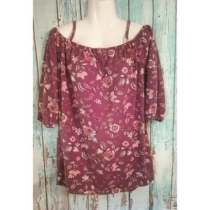 [French Laundry] Floral Blouse L